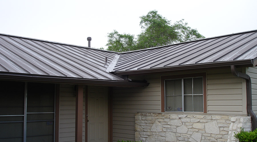 Painted Standing Seam Metal Roofing
